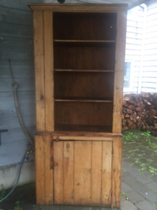 Antique Pine Wooden Hutch