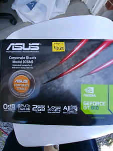 ASUS Gforce GT 610 -2GB DDR - PC Graphics Card