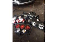 Bmw e36 front headlights set and back angle lights