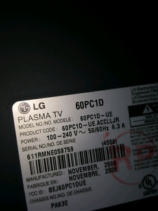 60 inch Plasma- for parts