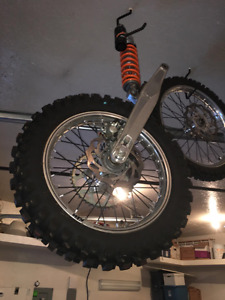 Rear shock and swingarm with tires rims and brakes brand new ktm