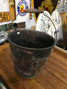 VINTAGE ASSORTMENT OF FIREFIGHTER FIREMAN ITEMS HELMET BUCKET