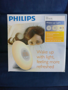 NEW Philips HF3500 Wake-Up Light Sunrise Simulation