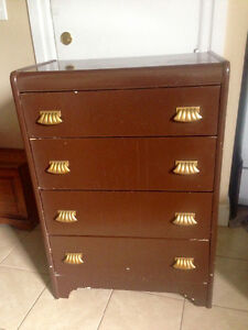 Solid little antique dresser