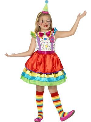Mädchen Kinder Deluxe Zirkus Clown Mädchen Kostüm Buch Woche Kostüm Outfit