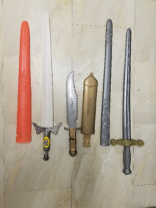 Plastic Toy Swords Collection
