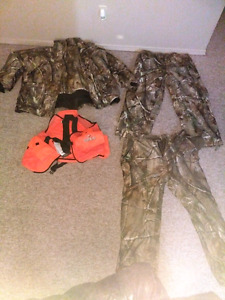 Assorted hunting clothing.