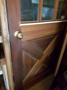 Wooden & Glass Door and Frame