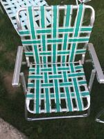 Old lawn chairs