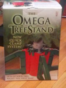 Omega Christmas tree stand with box