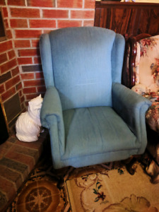 Vintage blue arm chair