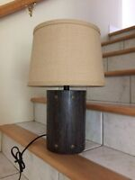 Brand new rustic side table lamp!