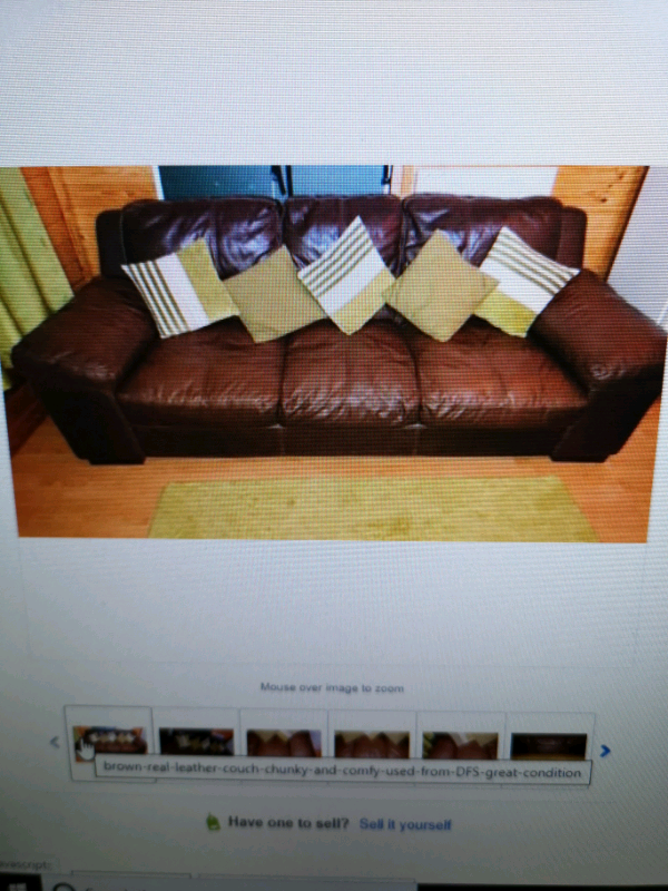 Brown Leather Couch From Dfs In Liverpool Merseyside Gumtree