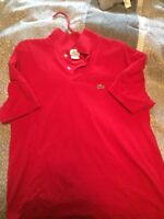 Lacoste Polo Red size 6