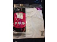 Girls plain polo shirt 2 pack size 10-11 years brand new