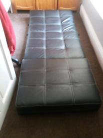 Leather single sofa bed