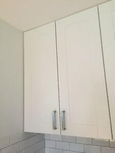 7 white Ikea cabinet doors in perfect condition