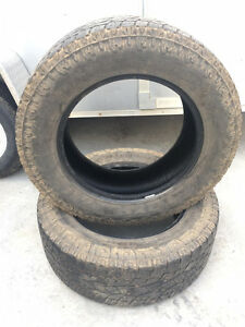Two Toyo A/T II LT275/65R20 Tires