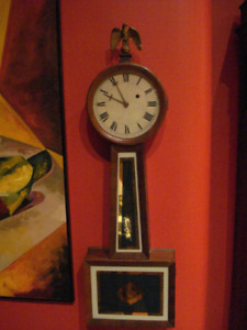 Antique Weight Driven Banjo Clock- Warranty