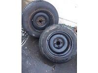 "Banded steelies 4x100 15"" 9j wheels"