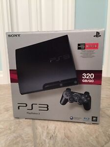 320 gb PS3 with 2 controllers and games