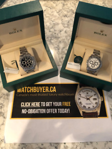 WATCHBUYER.CA BUYING HIGH END WATCHES FOR $$$$$$ ROLEX BUYER