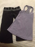 Lululemon size 2 capris and tank both for