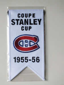 CENTENNIAL STANLEY CUP 1955-56 BANNER MONTREAL CANADIENS HABS