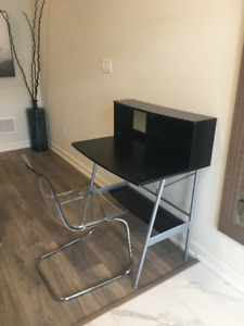 Ikea Small Desk and Transparent  Tobias Chair Excelnt Conditio