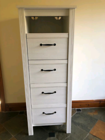 IKEA White Brusali Tall 4 Chest of Drawers