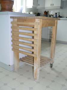 IKEA  BEKVÄM, Desserte en Bouleau/ Kitchen cart, birch