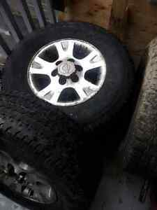 4x tires and mags a 6 trous
