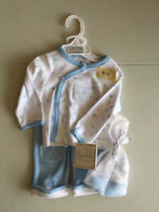 6 month white and blue outfit (NWT) - $10