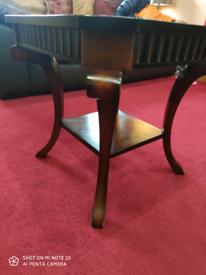 ITALIAN SOLID WOOD SIDE TABLE