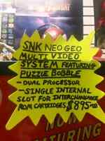 SNK neo geo multi video system/puzzle bobble