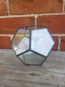 small leadlight candle holder