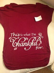 "Maternity top ""this is what I'm thankful for"""