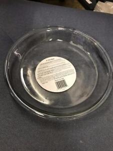 PIE PLATE 9INCH TEMPERED GLASS CLEAR