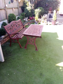 Bench and table set (reduced