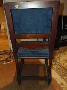 4 Luxurious Antique Rolling Dining Chairs: GORGEOUS, Vintage! London Ontario image 3