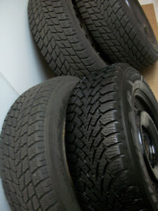 4Winter Tires 215 65 16 on Steel Rims 5 x 114.3mm