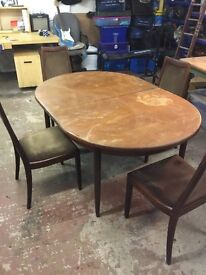 Gplan table and chairs