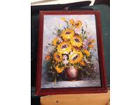 Flower Painting in Frame