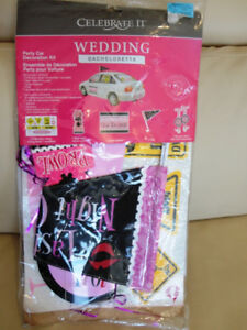 Any Ladies Getting married? Bachelorette Car Decorating Kit New