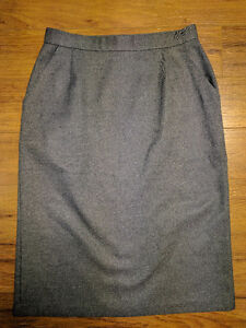 Grey Pencil Skirt With Pockets