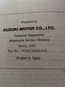 1989 Suzuki GS500E Service Manual Regina Regina Area image 4