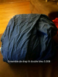 Ensemble drap lit double