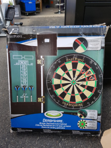 DerbyShire Bristle Dartboard and Cabinet - $75 - Unused/Unboxed