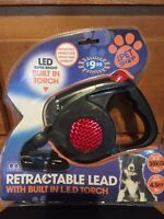 Retractable leash with LED lights