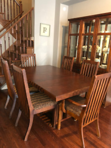 Dining room table with matching china cabinet